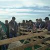 Осмотр животных в Арзгире продолжился до наступления сумерек